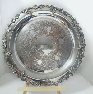 Silver plated old English reproduction platter